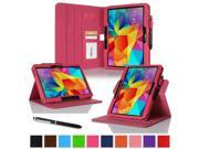 """rooCASE Samsung Galaxy Tab 4 10.1 Case - Dual View Multi-Angle Stand 10.1-Inch 10.1"""" Tablet Cover (Compatible with Galaxy Tab 3) - MAGENTA (With Auto Wake / Sleep Cover)"""