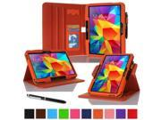 "rooCASE Samsung Galaxy Tab 4 10.1 Case - Dual View Multi-Angle Stand 10.1-Inch 10.1"" Tablet Cover (Compatible with Galaxy Tab 3) - ORANGE (With Auto Wake / Sleep Cover)"