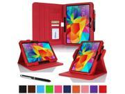 "rooCASE Samsung Galaxy Tab 4 10.1 Case - Dual View Multi-Angle Stand 10.1-Inch 10.1"" Tablet Cover (Compatible with Galaxy Tab 3) - RED (With Auto Wake / Sleep Cover)"