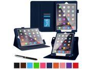 iPad Air 2 Case - roocase Dual View iPad Air 2 2014 Multi-Viewing Stand Folio Case Smart Cover for Apple iPad Air 2 (2014) 6th Generation Latest Model, Navy