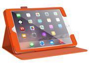 iPad Mini 3 Case - roocase Dual View iPad Mini Multi-Viewing Stand Folio Case Smart Cover for Apple iPad Mini 3 (2014) - Compatible with Mini 1 / 2, Orange