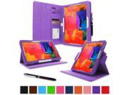 """rooCASE Samsung Galaxy Tab Pro 10.1 / Note 10.1 2014 Edition Case - Dual View Multi Angle Landscape Portrait Stand 10.1-Inch 10.1"""" Tablet Case - Purple (With Auto Wake / Sleep Cover)"""