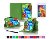 "rooCASE Samsung Galaxy Tab 4 8.0 SM-T330 Tablet Case - Dual View Multi-Angle Stand Cover Pen Stylus with Ultra HD Plus Anti-Fingerprint Bubble Free Clear Screen Protector for Tab4 8"", Green"