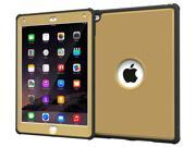 iPad Air 2 Case - roocase VersaTough Orb System iPad Air 2 2014 Armor Case PC / TPU Tough Case Cover with Built-in Screen Protector for iPad Air 2 (2014) 6th Generation Latest Model, Champange Gold