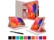 """rooCASE Samsung Galaxy Tab Pro 10.1 / Note 10.1 2014 Edition Case - Dual View Multi Angle Landscape Portrait Stand 10.1-Inch 10.1"""" Tablet Case - Pink (With Auto Wake / Sleep Cover)"""