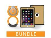 roocase iPad Air 2 Orb Bundle, Versa Tough Full Body Case for iPad Air 2 Case with Orb Loop Stand - Corner Protection Impact Resistant Armor Case, Fossil Gold [Patented Orb System]