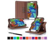 roocase Samsung Galaxy Tab 4 7.0 (7-Inch) Dual View Folio Case - Slim Fit Stand Smart Case Cover, Brown