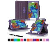 roocase Samsung Galaxy Tab 4 7.0 (7-Inch) Dual View Folio Case - Slim Fit Stand Smart Case Cover, Purple