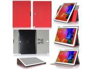GearIt Galaxy Tab Pro / Note Pro 12.2 - 360 SPINNER landscape, portrait, typing stand folio cover - Twill Red