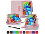 """rooCASE Samsung Galaxy Tab 4 8.0 Case - Dual View Multi-Angle Stand 8.0-Inch 8.0"""" Tablet Cover - PINK (With Auto Wake / Sleep Cover)"""