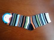 2 Pairs NEW Cotton Wool Men Men's Socks hosiery clothing apparel Stripes for Spring Autumn Winter size 6.5-10
