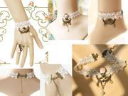 Vintage Womens Bridal Wedding Party Jewelry Set Necklace Bracelet Anklet Foot Chain Lace New