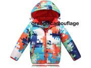 2014 New Quilted Warm Girl Boy girls boys Children child Kid kids Unisex Warm Moncler Down Jacket Coat outerwear winter clothes apparel with Hood camouflage