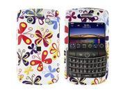BlackBerry Bold 9780 Colorful Butterflies Snap-On Protector Case Faceplate