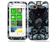 HTC Radar Wings w/Blue Skulls Protector Faceplate