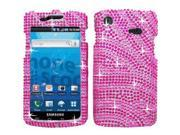 Samsung Captivate i897 Full Bling Hot Pink/Pink Zebra Snap-On Protector Case Faceplate