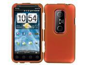 HTC EVO V 4G (Virgin) / EVO 3D (Sprint) Rubberized Snap-On Protector Case (Orange)