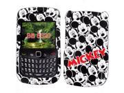 Disney Officially Licensed: Rubberized Mickey Mouse Mosaic Snap-On Faceplate for BlackBerry Curve 8520/8530