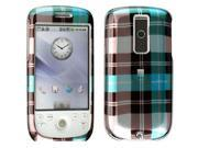 HTC T-Mobile myTouch 3G/Magic Blue Checkered Snap-On Protector Case Faceplate
