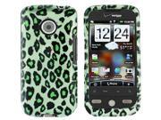 HTC Droid Eris Green Leopard Snap-On Protector Case Faceplate