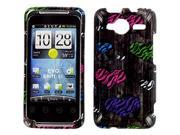 HTC EVO Shift 4G Colorful Zebra Hearts on Wood Snap-On Protector Case Faceplate
