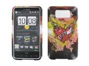 HTC HD2 Nail Through Heart Snap-On Protector Case Faceplate