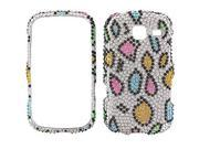 Samsung Freeform III SCH-R380 Full Bling Rainbow Leopard Snap-On Protector Case Faceplate