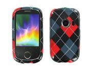 Huawei M835 Red & Black Argyle Snap-On Protector Case Faceplate