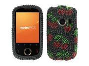 Huawei M835 Full Bling Red Cherries on Black Snap-On Protector Case Faceplate