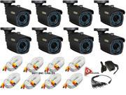 Q-See QM9901B  (8PK)*Replaces QM6006B & QM7007B*  MegaPixel Resolution 900 TV Lines 3.6mm Lens 100ft Of Night Vision with 60ft BNC Cables
