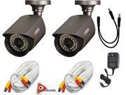 Q-See QM7010B-2pk / 700TVL Resolution / 100ft of Night Vision / 4.6mm Lens / 3-Axis Stand