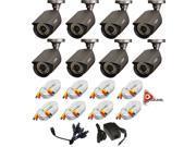 Q-See QM7010B-8pk / 700TVL Resolution / 100ft of Night Vision / 4.6mm Lens / 3-Axis Stand