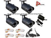 Q-See 2MP 24IRs WeatherProof IP66 HeritageHD 4PK Camera