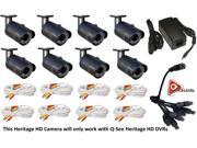 Q-See 2MP 24IRs WeatherProof IP66 HeritageHD 8PK Camera