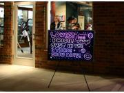 """32""""x24"""" Large Flashing Illuminated Erasable Neon LED Writing Board Menu Sign with Control Button & Remote Control (A Complete Set-8 6mm Fluorescent Marker Pens Included)(7 Colors and Flashing Mode)"""