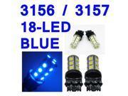IG Tuning 3157 18-SMD Blue LED Bulbs Reverse Light 3156 3757 4114 4157 Backup Daytime Running Light (DRL), Turn Signal Light, Corner, Stop, Parking, Side Marker, Tail & Back up Lights 12V