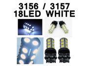 IG Tuning 3157 18-SMD White LED Bulbs Reverse Light 3156 3757 4114 4157 Backup Daytime Running Light (DRL), Turn Signal Light, Corner, Stop, Parking, Side Marker, Tail & Back up Lights 12V