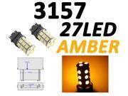 IG Tuning 3157 27-SMD Amber/Yellow LED Bulbs Reverse Light 3156 3757 4114 4157 Backup Daytime Running Light (DRL), Turn Signal Light, Corner, Stop, Parking, Side Marker, Tail & Back up Lights 12V