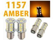 IG Tuning 1157 BAY15D 2357 7528 18-SMD 5050 LED Turn Signal Light Side Marker Dome License Plate Reverse Bulbs (Amber/Yellow)