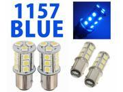 IG Tuning 1157 BAY15D 2357 7528 18-SMD 5050 LED Turn Signal Light Side Marker Dome License Plate Reverse Bulbs (Blue)