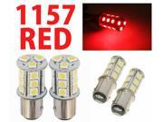 IG Tuning 1157 BAY15D 2357 7528 18-SMD 5050 LED Turn Signal Light Side Marker Dome License Plate Reverse Bulbs (Red)