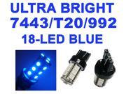IG Tuning 18-SMD Blue 7440 7441 7443 7444 992A T20 LED Replacement Bulbs Reverse Light, Turn Signal Light, Corner Light, Stop Light, Parking Light, Side Marker Light, Tail Light, and Backup Lights 12V