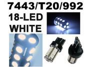 IG Tuning 18-SMD White 7440 7441 7443 7444 992A T20 LED Replacement Bulbs Reverse, Turn Signal, Corner, Stop,  Parking, Side Marker, Tail and Backup Lights 12V