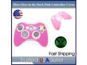 PINK GLOW in DARK Xbox 360 Game Controller Silicone Case Skin Protector Cover