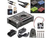 EEEKit Professional Kit Raspberry Pi 2/B+ Accessories,Case+Cable+Charger+USB Hub