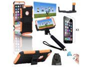 EEEKit for iPhone 6 5.5 Plus Hybrid Stand Case+Bluetooth Camera Remote+Monopod