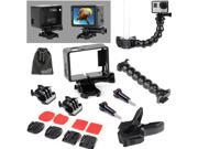 EEEKit for Gopro Hero HD 3+/3 Flex Clamp Clip Mount+Gooseneck+Frame Housing Case