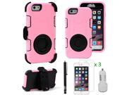 EEEkit for iPhone 6 4.7 Hybrid Kickstand Cover Case+Screen Flim+USB Car Charger
