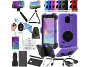 EEEKit for Samsung Galaxy Note 4,4 Layer Hybrid/TPU Case+Monopod/Tripod Mount