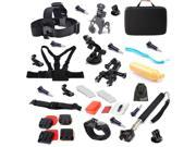 EEEKit 29in1 for GoPro Hero4 Hero 4/3+,Floaty/Head/Wrist/Helmet Strap Mount+Case